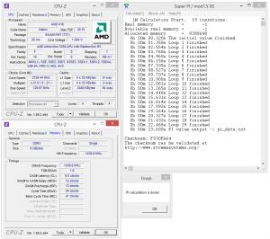 Wynik podkręconego do 2,7Ghz Athlona 5350 w Super PI jest najlepszy ze wszystkich kiedykolwiek zaprezentowanych procesorów AMD uwzględniając zegary. Przykładowo FX-8320 osiąga taki wynik dopiero przy 3,7 Ghz, a Athlon II x2 przy 3,5 Ghz. Oznacza to potencjał tej architekrury.