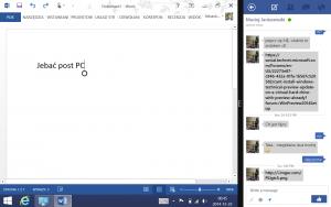 Możliwość dzielenia ekranu w Windows 8.1 ma sens w tabletach zwiększając wielozadaniowość.