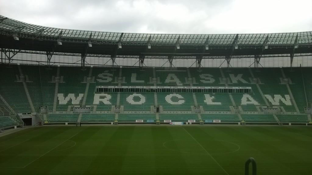 Dla ciekawskich - widok na stadion z targów pracy Absolvent Talent Days z loży super VIP