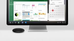 To małe gówienko pod monitorem to Remix Mini, z Remix OS, desktopową modyfikacją Androida. Projekt zbiera pieniądze na Kickstarterze.