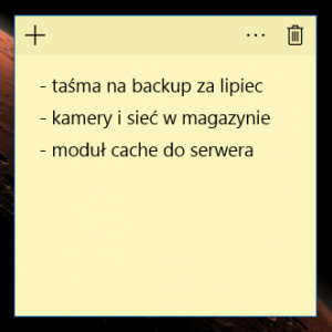 """Aplikacja """"Sticky Notes"""" została przepisana na WinRT i jest teraz częścią """"Obszaru roboczego funkcji Windows Ink"""" Kocham tłumaczenia w wykonaniu Microsoftu."""